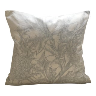 """Timorous Beasties Black and White Thistle Pillow Cover - 18""""x18"""""""