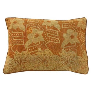 Vintage Embroidered Kantha Pillow Cover