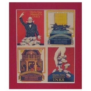 Framed Vintage British Ink Advertisement