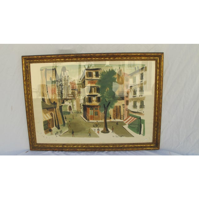 Antique Lithograph of Village Scene - Image 6 of 6