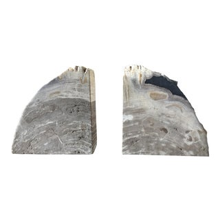 Gaia Petrified Kravet Bookends - A Pair
