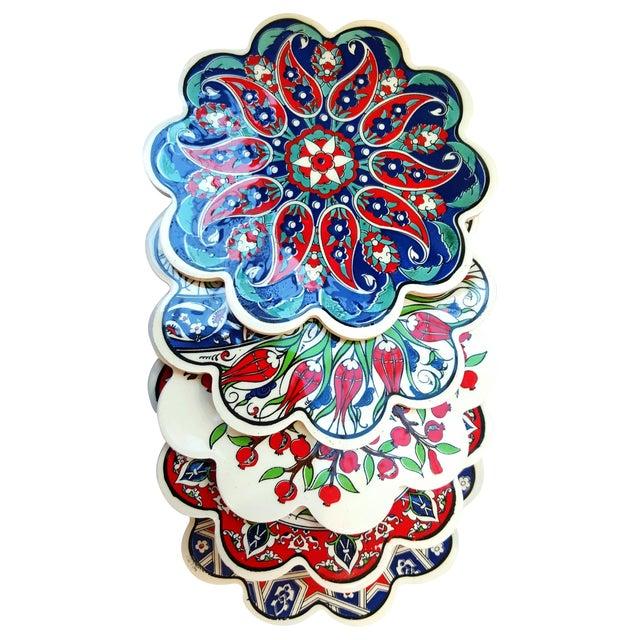 Turkish Tile Trivets - Set of 5 - Image 1 of 7