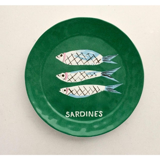 "Danielle Kroll ""Sardine"" Pictorial Dessert Plates - A Pair - Image 2 of 4"