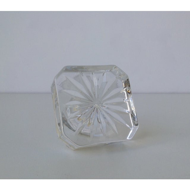 Glass Square Cut Beveled Decanter Top - Image 5 of 8