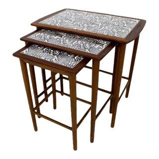 Danish Mid-Century Modern Teak Nesting Tables - Set of 3