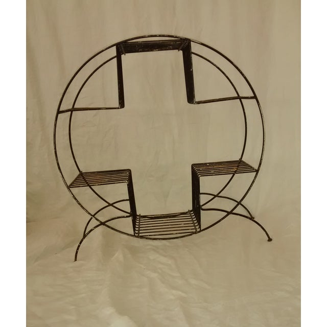 Mid Century Modern Wire Plant Stand Shelf - Image 3 of 8
