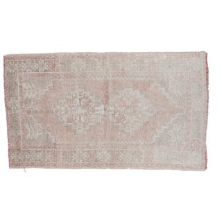 "Distressed Oushak Rug - 3'7"" x 6'3"""