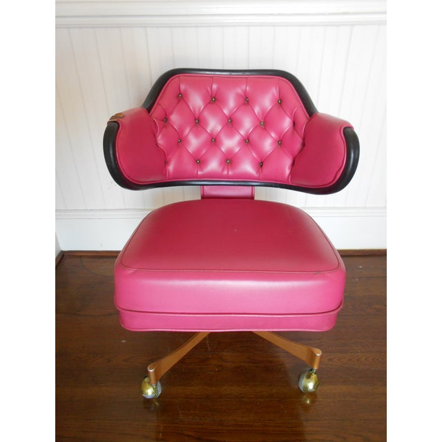 Pink Tufted Swivel Chair - Image 2 of 10