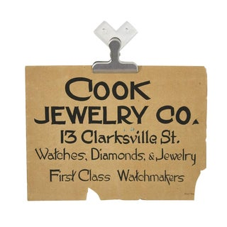 1930s Double Sided Store Sign