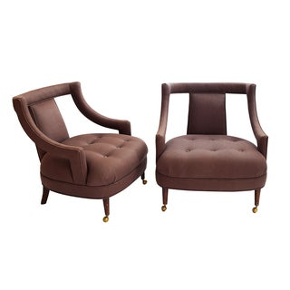 Regency Club Chairs - Pair