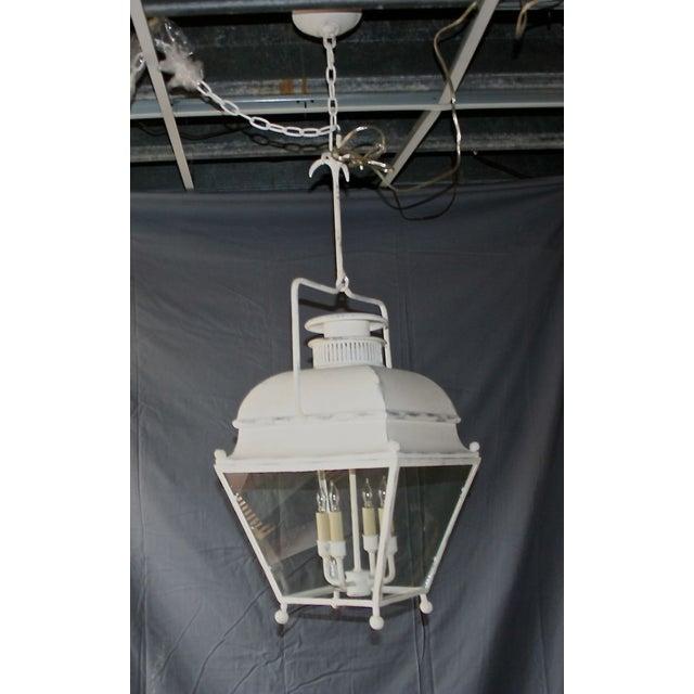 Image of Large White Colonial Lantern