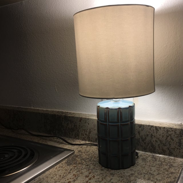 Image of Blue & Brown Stone Lamp