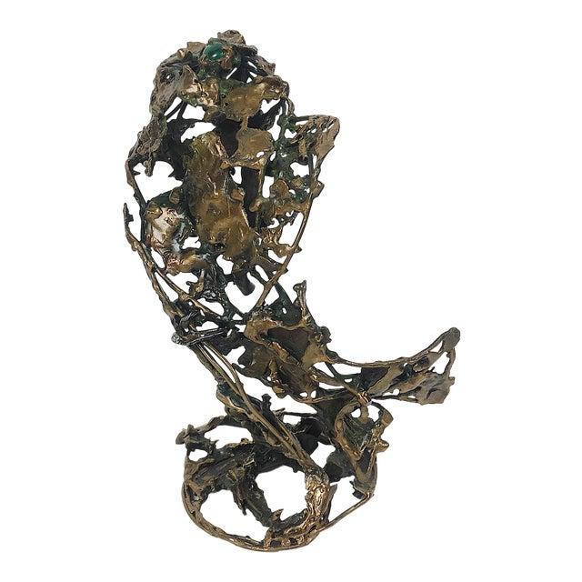 Ben Kupferman Bronze Sculpture With Malachite - Image 1 of 6