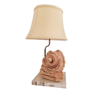 Terracotta Corbel Fragment Table Lamp