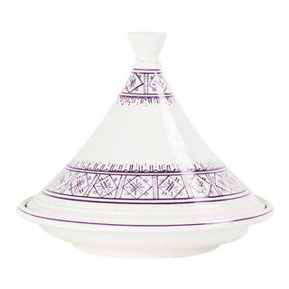 Moroccan Lavender Ceramic Serving Tajine