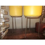 Image of Modernist Wrought Iron Plant Stands - Set of 3