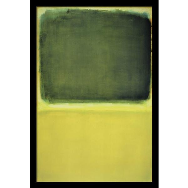 """Image of """"Green , Yellow 1951"""" by Mark Rothko, Reproduction"""
