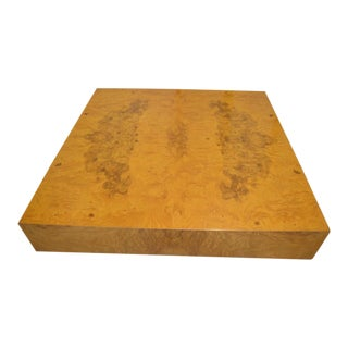 Olivewood Burl Coffee Table by Milo Baughman for Lane Furniture