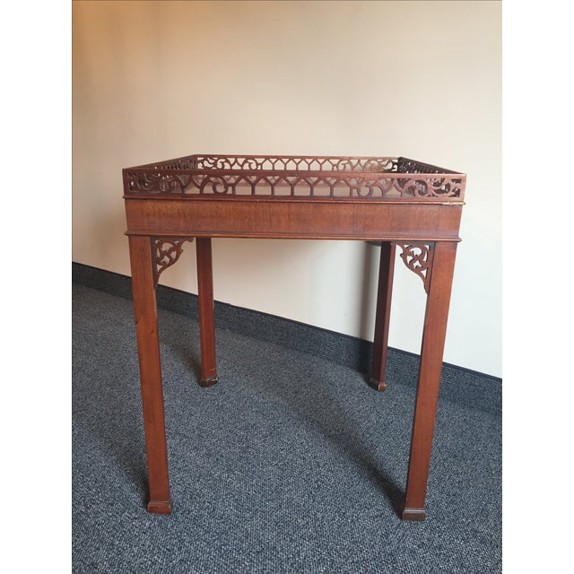 Chippendale-Style Wood Side Table - Image 4 of 7