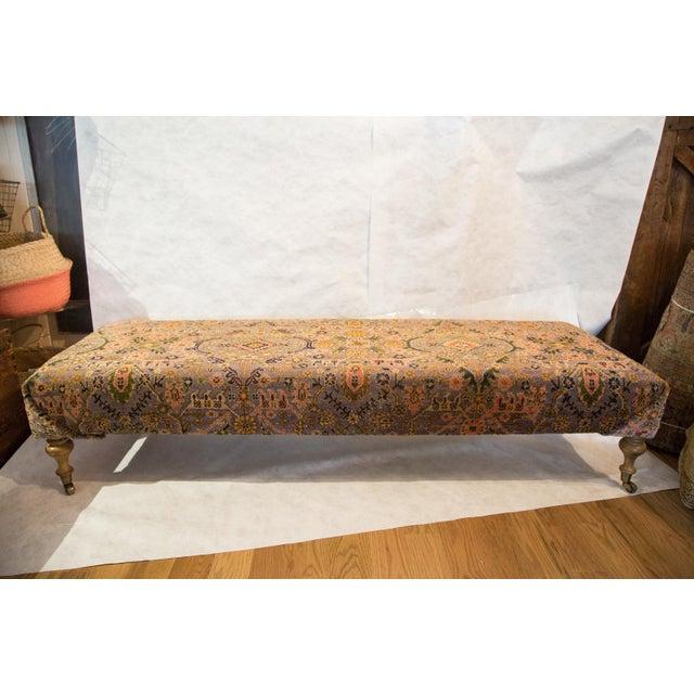 Vintage Persian Rug Ottoman - Image 4 of 5