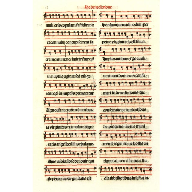 Antique Music Sheet, Printed in 1525 - Image 4 of 4