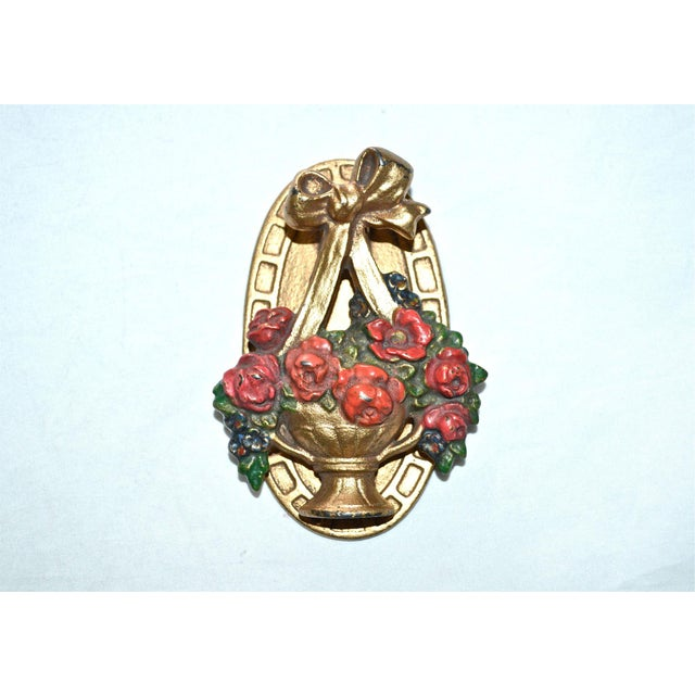 Hubley Flower Basket Door Knocker - Image 2 of 8