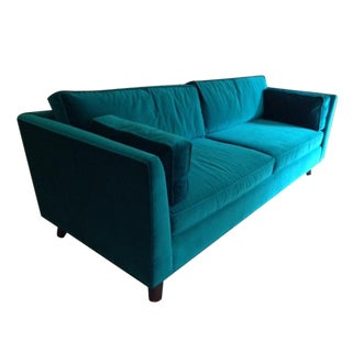 Mitchell Gold Ainsley Teal Sofa