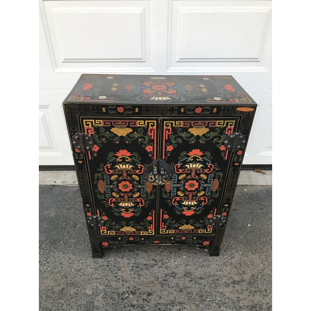 Hand Painted Chinoiserie Cabinet - Image 2 of 10