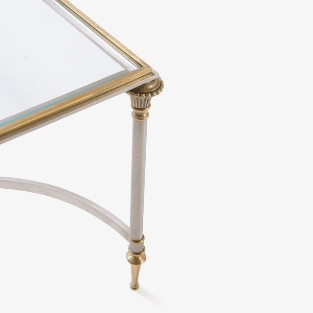 Maison Jansen Style Brass & Steel Cocktail Table - Image 5 of 7
