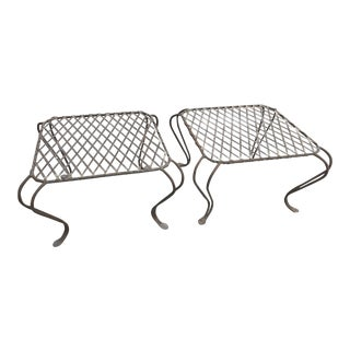 Rose Tarlow Twig Garden Iron Side Tables - A Pair