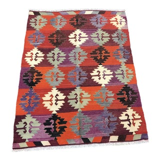 Handwoven Turkish Kilim - 3'4''x4'5''