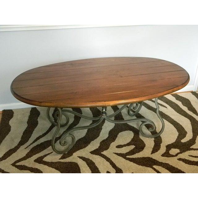 Harden Furniture Iron & Wood Rustic Coffee Table
