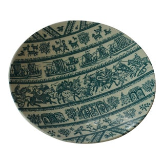 Vintage Tribal Art Plate