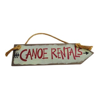 """Canoe Rentals"" Wooden Sign"