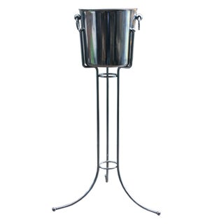 Vintage Champagne Bucket With Stand