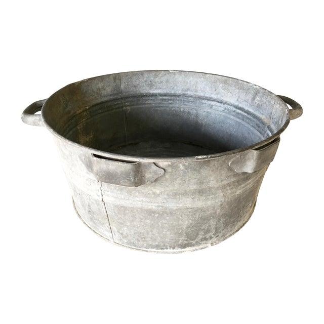 Vintage metal bucket chairish for Old metal buckets