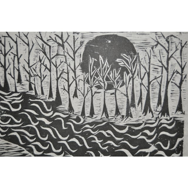 Mid Modern Woodblock C.1950 - Image 4 of 8