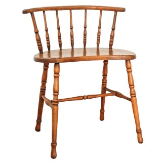 Antique American Windsor Barrel Back Chair