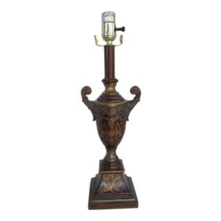 Classical Florentine Style Urn Table Lamp