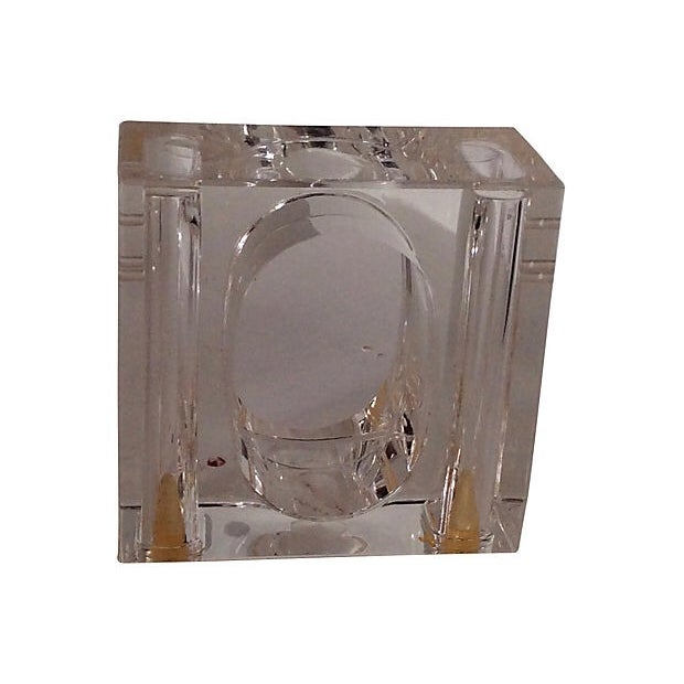 Lucite Napkin Rings, Set of 7 - Image 3 of 4
