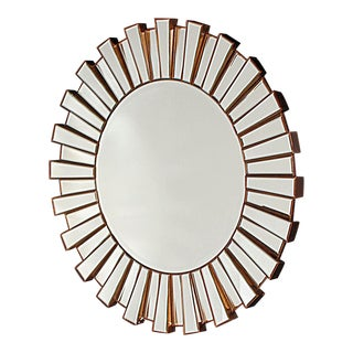 Hollywood Regency-Style Sunburst Mirror