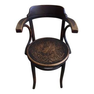 Vintage Bohemian Wood Accent Chair