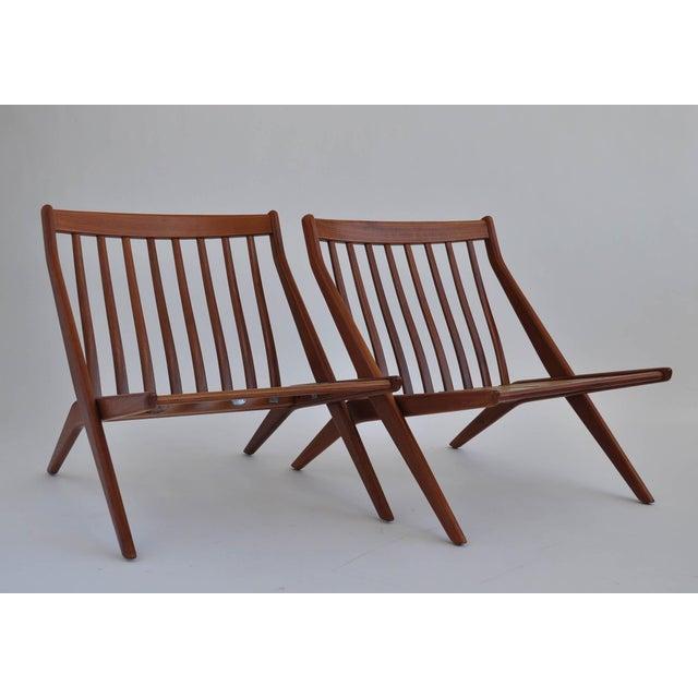 Folk Ohlsson Scandinavian Scissor Lounge Chairs - Image 7 of 10