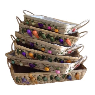 Vintage Fruit Serving Basket - Set of 6