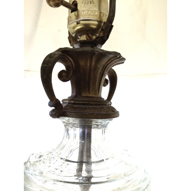 Antique Glass & Brass Pineapple Style Table Lamp - Image 10 of 10