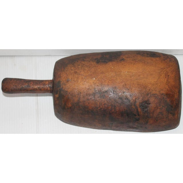 19th Century Original Old Surface Hand-Carved Scoop - Image 10 of 10
