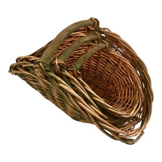 Antique 19th Century French Lavender Gathering Nesting Baskets - Set of 3