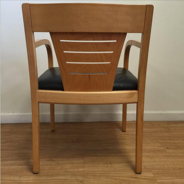 Bentwood and Leather Vecta Arm Chairs - Pair - Image 7 of 9