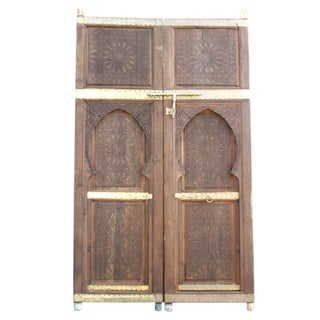 Moorish Arched Carved Doors - A Pair