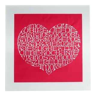 Alexander Girard Framed International Heart Textile